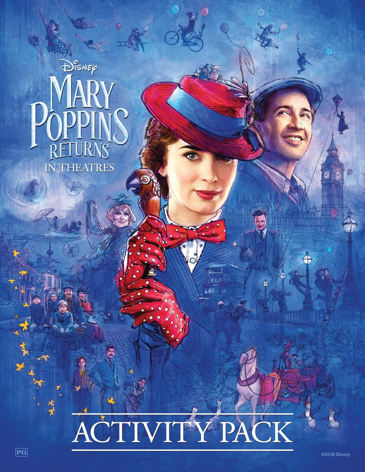 Mary Poppins Returns Movie Review Amp Coloring Sheets