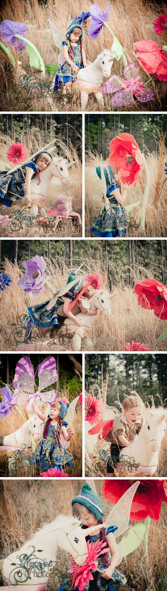 Thumbelina themed children's photo shoot
