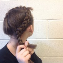 Once you run out of hair to add, finish with a braid.