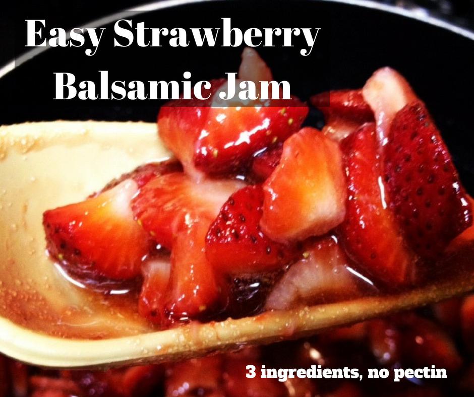 Easy, Delicious Balsamic Strawberry Jam | no pectin, 3 ingredients, easy jam recipe #jam #recipe #strawberryjam