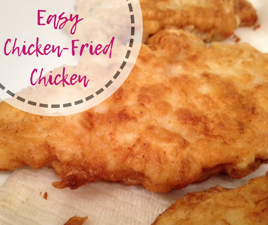 Easy Chicken-Fried Chicken | this chicken version of chicken-fried steak is super yummy, easy, and feels decadent | finding time for cooking blog