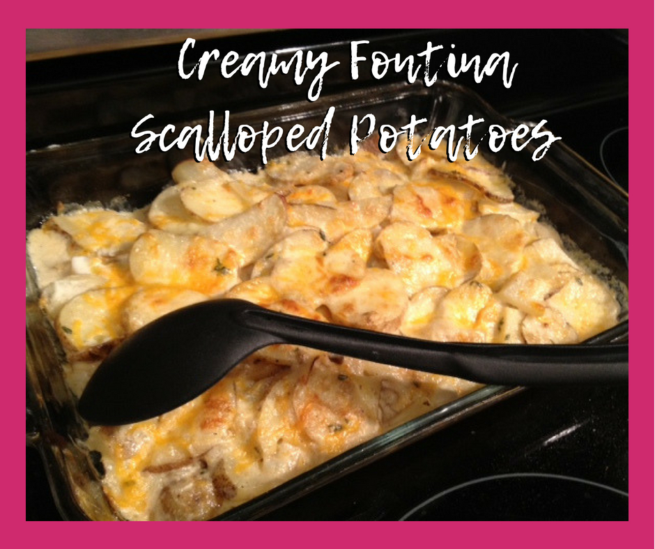 Creamy Fontina Scalloped Potatoes   easy, cheesy potato side dish, vegetable side dish ideas   finding time for cooking blog