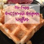 Mom's favorite brunch staple (No-Fuss Belgian Buttermilk Waffles)