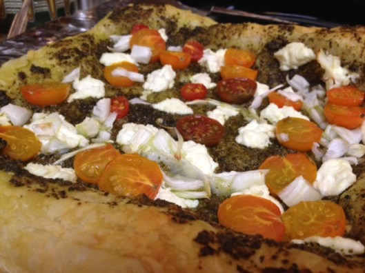 Cherry Tomato, Spring Onion, & Goat Cheese Tart | finding time for cooking blog