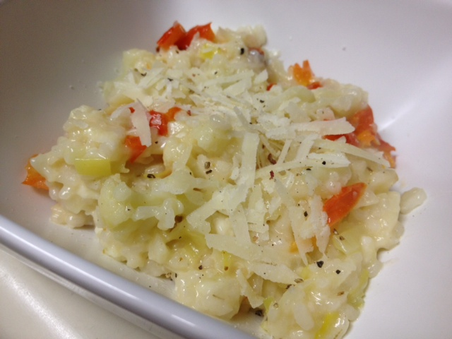 cauliflower & leek risotto - healthy & delicious