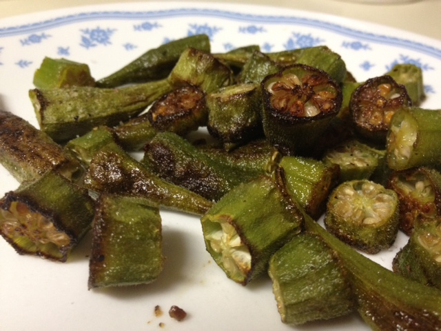 Roasted okra...healthier than fried and tastes just as good | FindingTimeForCooking