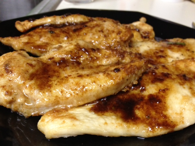 chicken with white wine and lemon sauce