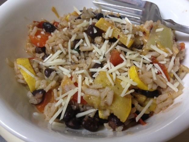 Vegetable, Black Bean, & Brown Rice Skillet   finding time for cooking blog