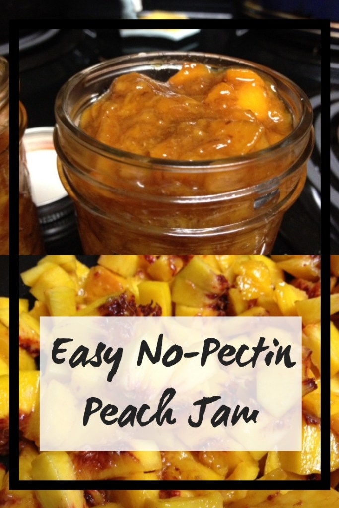 Easy No-Pectin Peach Jam | delicious juicy peaches and some sugar and vanilla are all you need for this awesome peach jam...no pectin needed! | finding time for cooking blog #jam #jamrecipe #easyjam #recipes #peaches #peach