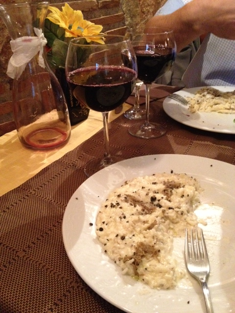 black truffle risotto is some of the best food in motovun croatia