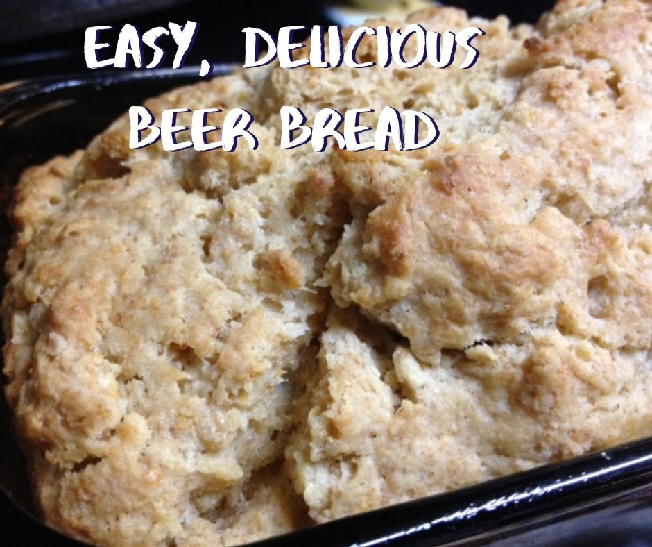 Easy, Delicious Beer Bread | This easy and yummy quick bread has a delicious wheat-y flavor from the beer and is perfect if you need bread on short notice!  #beerbread #bread