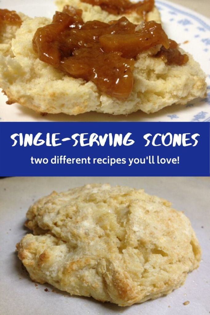 Single-Serving Scones | Two different recipes for easy & delicious single-serving scones, perfect for a single person brunch! #breakfast #cookingforone #sconerecipes