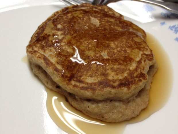 whole grain apple butter pancakes
