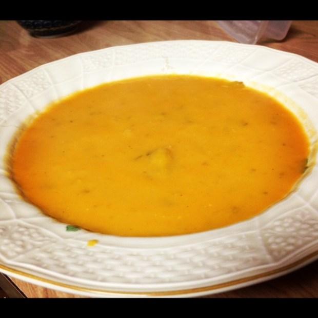 sweet potato soup finished
