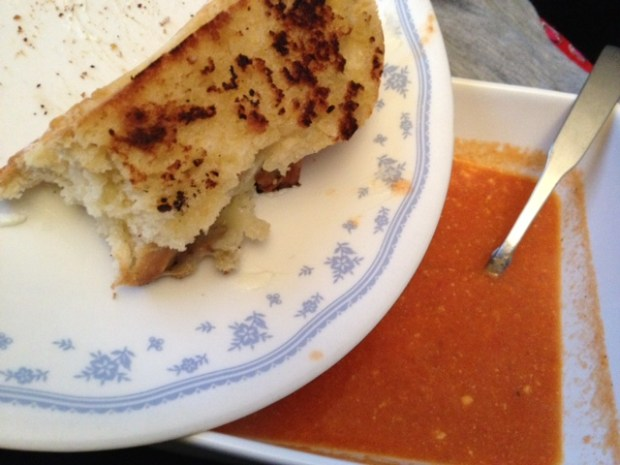 Easy & Delicious Goat Cheese Tomato Soup | finding time for cooking blog