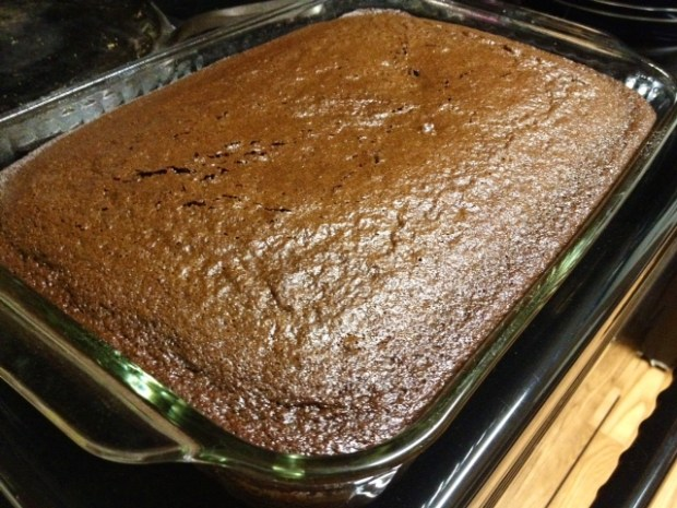 black magic cake baked