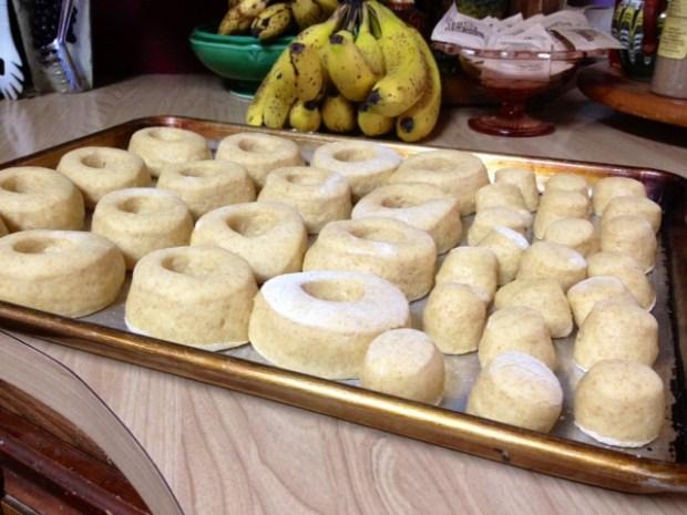 mom donuts cutout risen