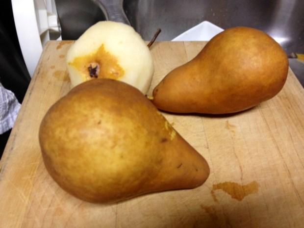 pear bittersweet chocolate cake pears