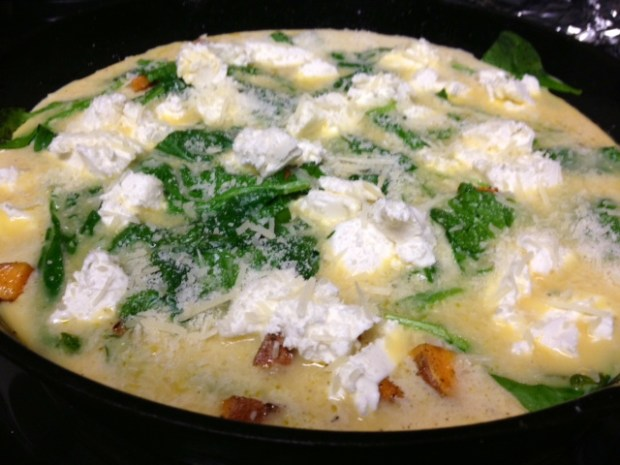 sweet potato frittata assembled