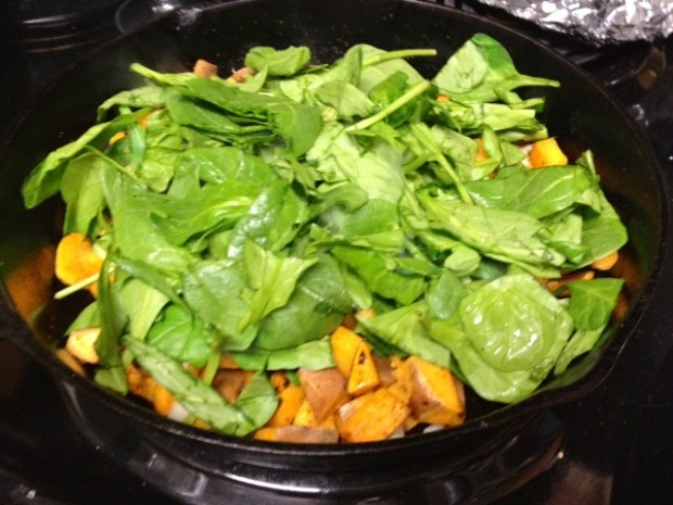 sweet potato frittata spinach