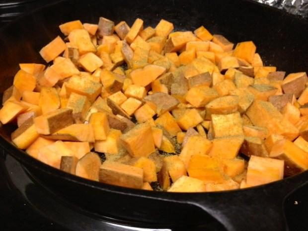 sweet potato frittata sweet potatoes cooking