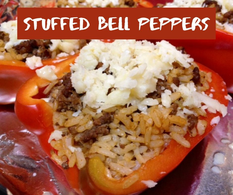 Stuffed Red Bell Peppers Finding Time For Cooking