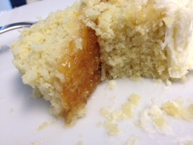 citrus marmalade cake finished slice