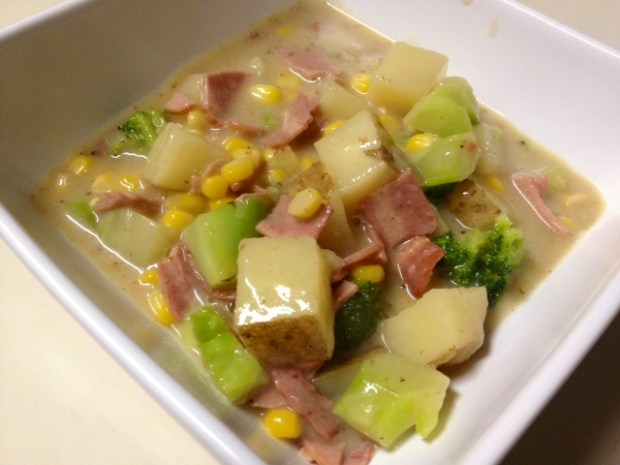 broccoli corn chowder finished