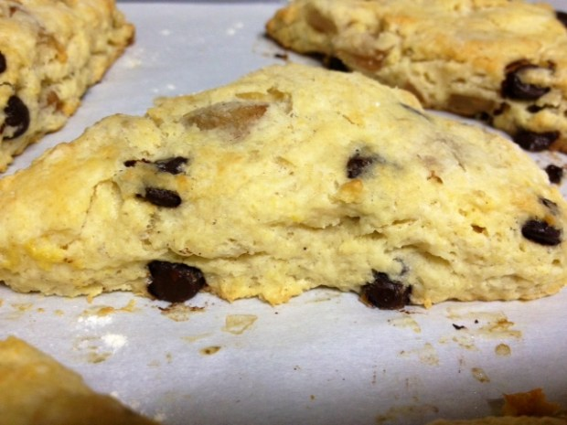 pear brown butter scones baked
