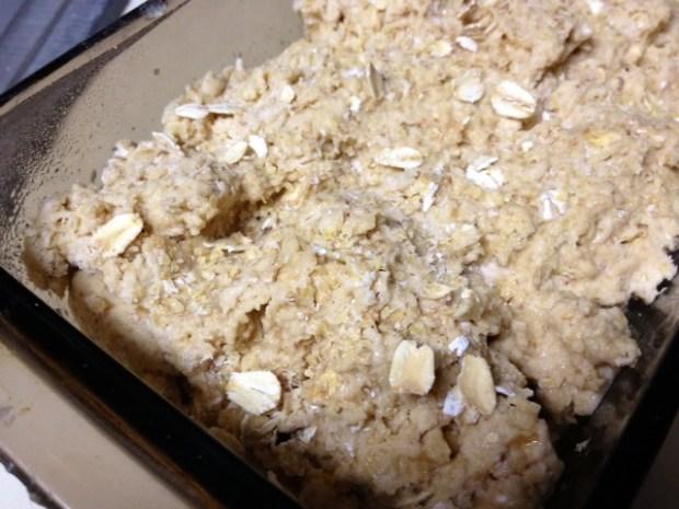 brown oatmeal soda bread dough pan2