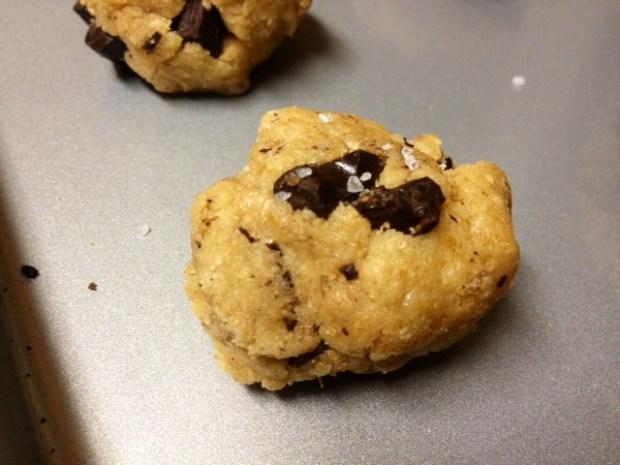 whole wheat dark chocolate cookies dough ball