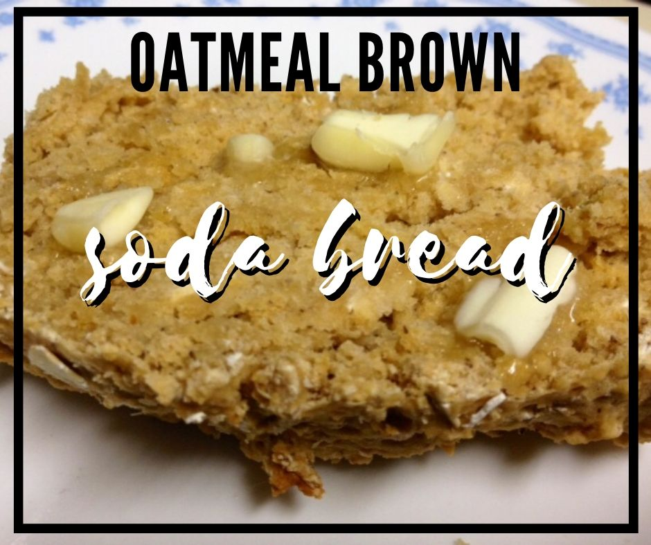 Oatmeal Brown Soda Bread | This simple quick bread is like a traditional brown soda bread with oatmeal. A fast bread ready in under an hour, no yeast.  Healthy and delicious. #bread #quickbread #sodabread