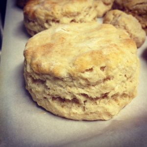 whole wheat biscuits finished closeup