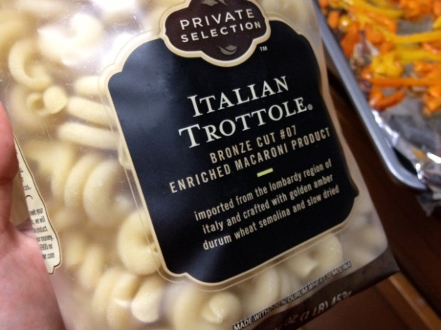 trottole peppers goat cheese pasta