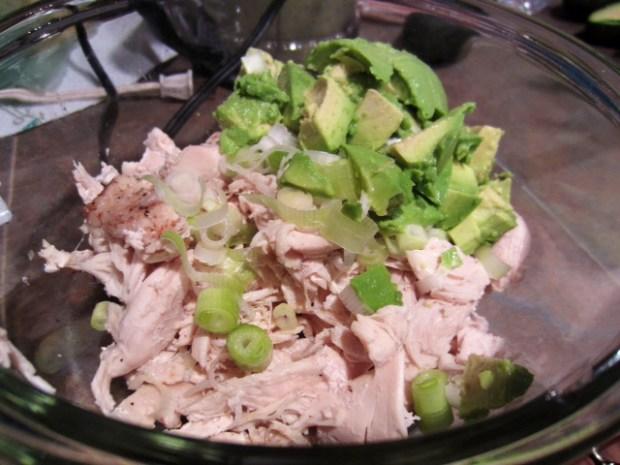 chicken avocado enchiladas filling