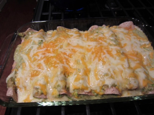 chicken avocado enchiladas finished