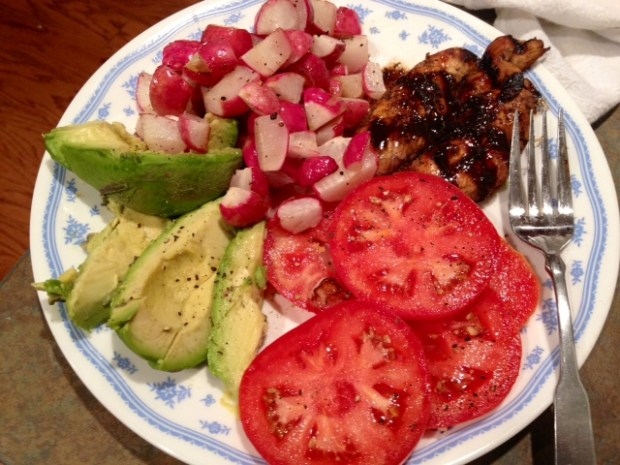 grilled balsamic chicken full plate