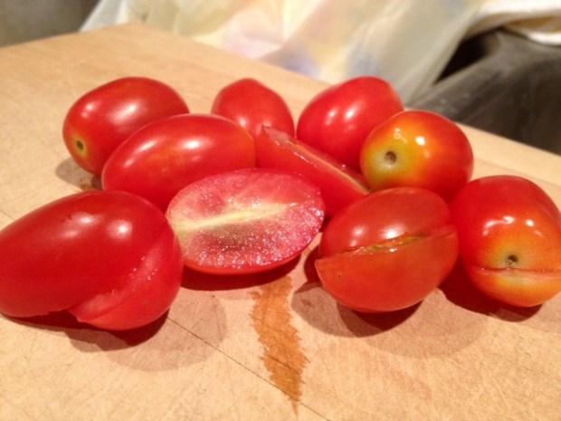 chicken barley corn salad tomatoes