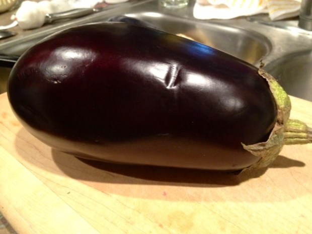 grilled balsamic eggplant whole