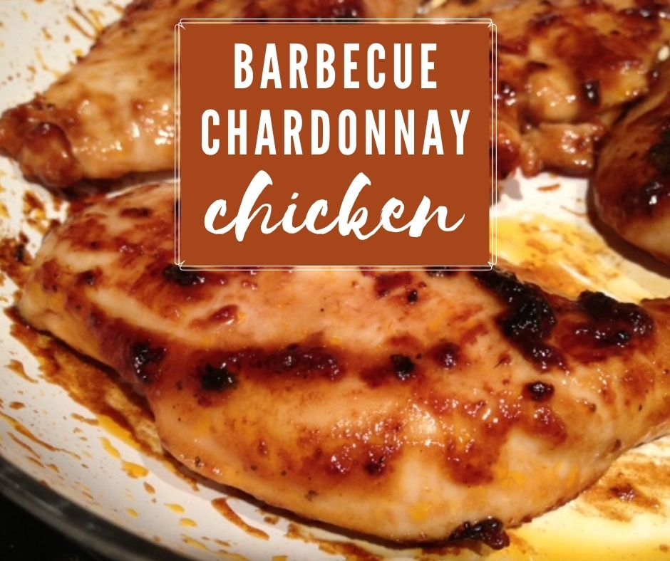 Easy Barbecue Chardonnay Chicken | Whether grilled, baked, or stovetop, this easy white wine and barbecue sauce chicken is crazy easy and super delicious.  Throw it in a simple marinade and dinner will be on the table in no time. #chardonnay #bbq #chicken #dinnerrecipe #weeknightdinner