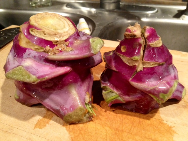 How to prepare kohlrabi - two ideas for preparing this odd vegetable