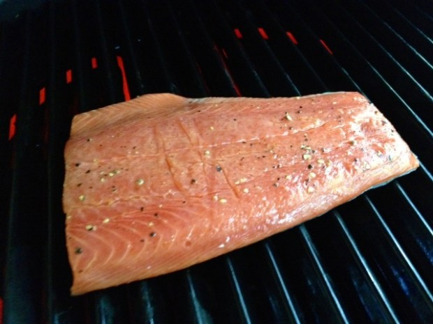 maple citrus salmon grilling