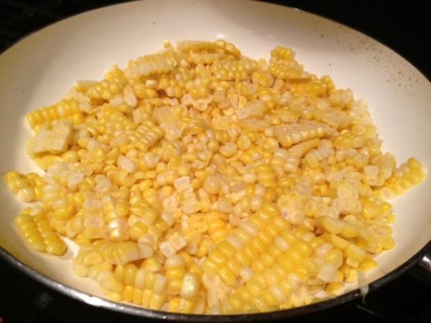 creamy charred corn & leek fettuccine corn charring