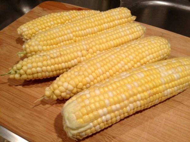 creamy charred corn & leek fettuccine corn raw