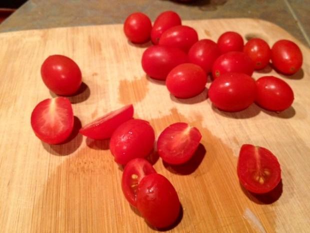 one-pot farro tomatoes