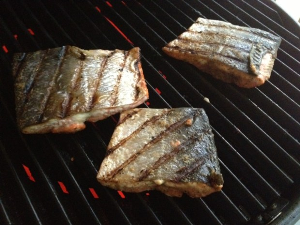 soy glazed grilled salmon grilling2