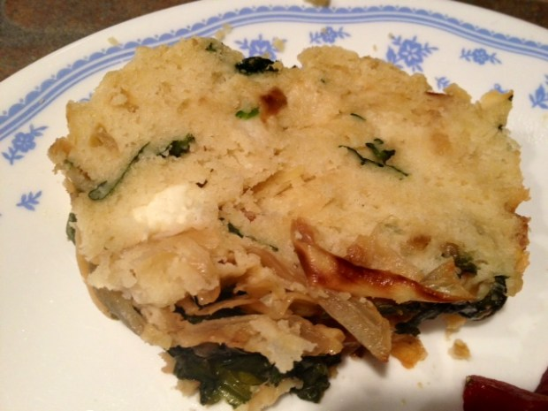 Spinach Caramelized Onion Bread sliced