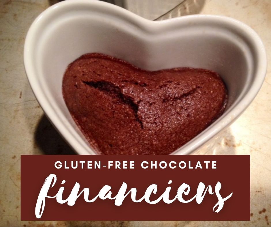 Delicious Chocolate Financiers (Naturally Gluten-Free) | These traditional French desserts are made with almond flour so gluten-free, are a super easy dessert, and so tasty!  Ready in just 30 minutes, perfect dessert for any occasion.  #glutenfree #gf #dessertrecipe #financiers