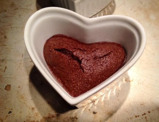 Chocolate Financier Heart