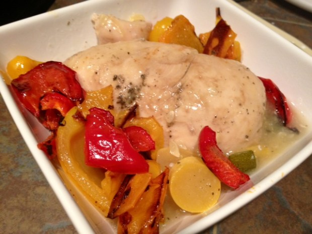 Crockpot Beer Chicken with Peppers